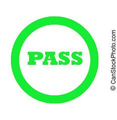 Green pass stamp