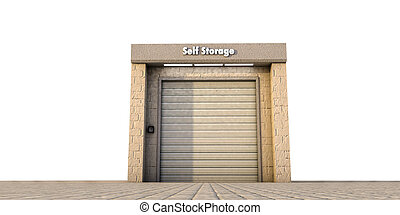 self storage - illustration of a self storage unit