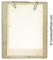 Blank Vintage Papers Clipped Together - Vintage papers...