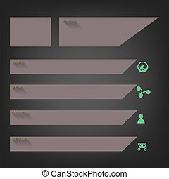 Flat website templates designs, Vector