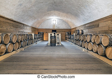 Gun Powder Barrel Room - Gun powder room at Fort Niagara...