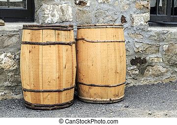 Hand Crafted Water Barrels - Two wooden hand crafted barrels...