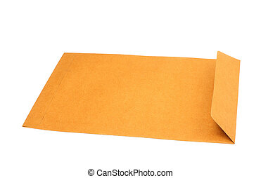 Brown letter envelope isolated over white background