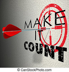Make It Count Arrow Target Words Succeed Win Important...