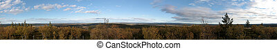Struves Geodetic Arc - Panoramic view from a mark of Struves...