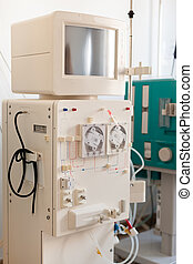 Dialysis Device - a dialyser or hemodialysis machine in an...