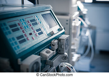 hemodialysis machine - a dialyser or hemodialysis machine in...