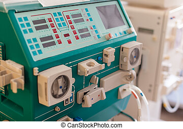 Dialysis machine - a dialyser or hemodialysis machine in an...