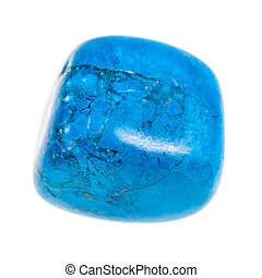 Turquoise stone - a small decorative stone isolated over a...