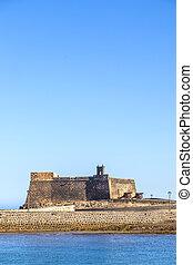 castle Castillo de San Gabriel in Arrecife, Lanzarote,...