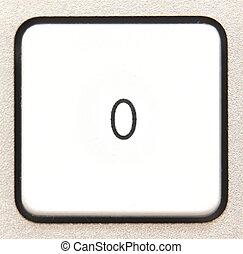 Button 0 -   Button 0 from a modern numpad.