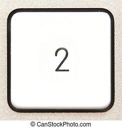 Button 2 -   Button 2 from a modern numpad.
