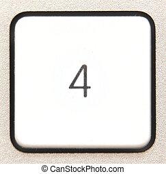 Button 4 -   Button 4 from a modern numpad.
