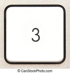 Button 3 -   Button 3 from a modern numpad.