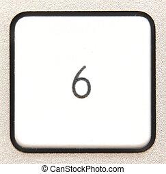 Button 6 -   Button 6 from a modern numpad.