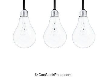 luz, bombillas, blanco, Plano de fondo