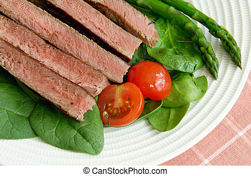 Sliced Steak With Vegetables