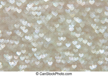 defocused abstract hearts light background - hearts light...