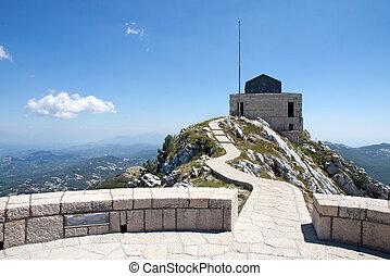 Lovchen mausoleum, Montenegro - The mausoleum of Lovchen in...