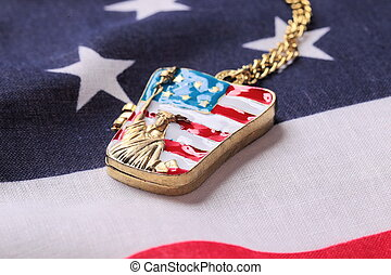 Necklace with statue of liberty