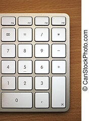Numpad Of Keyboard - Numpad of an Apple keyboard on wooden...