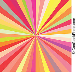 rays background, - Bright colors rays background, a vector...