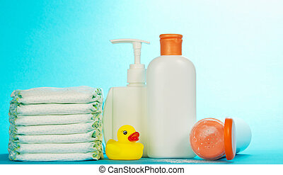 Cosmetics bottle for care and diapers - Cosmetics bottle for...
