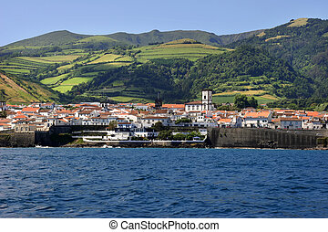 village - azores coastal view