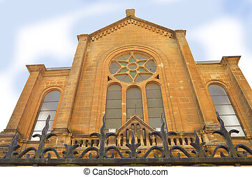 Sedan Synagogue - Facade of the synagogue of Sedan, France