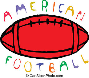Color american football design with text Vector illustration...