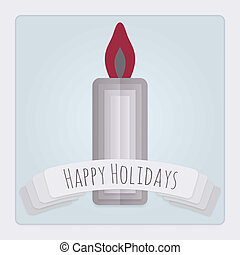 Candle Holidays Card