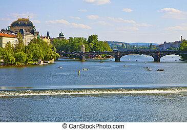 Prague, rivière, MOLDAU