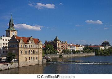 Prague, Moldau river and Smetana museum - Beautiful...
