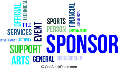 word cloud - sponsor - A word cloud of sponsorship related...