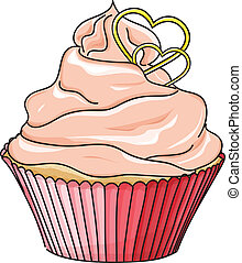 Vector cupcake isolated on white Hand drawn sketch