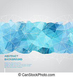 Abstract background with blue triangles template