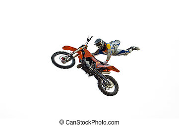 Extreme Dirt Biker - Extreme motocross biker performing...