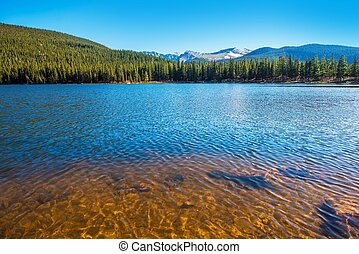 Mountain Lake in Colorado. Echo Lake near Mount Evans....