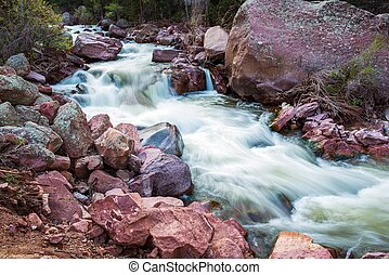 Spring Water Stream - Spring Water Colorado Mountains Stream