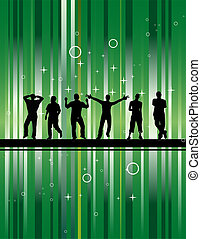 Party with green background