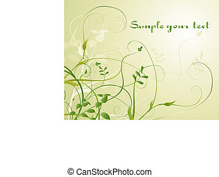 Flowers background - Illustration of Flowers background