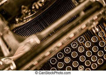 Ghost Writer Typewriter Closeup Concept Photo.