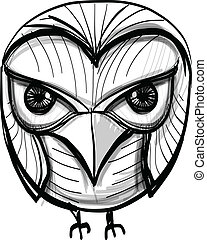 Smart owl. Education, wisdom symbol. - Bird isolated on...