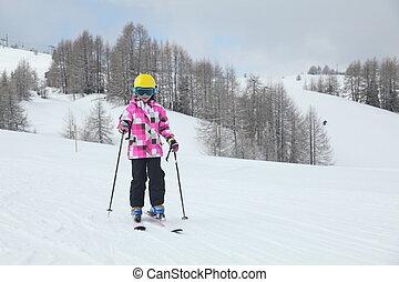 happy ski girl