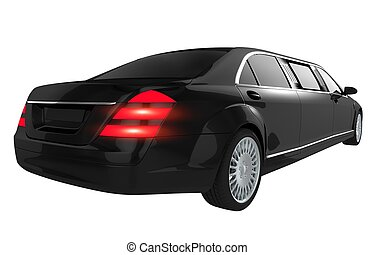 Luxury Limousine Isolated - Black Luxury Limousine Isolated...