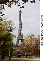 Eifel tower in ParisFrance - Eifeltower at autumn time iin...