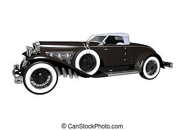 Elegant Luxury Classic Car Convertible Version. Classic Car...