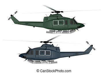 Rescue Helicopter Isolated. Two Colors To Choose From....