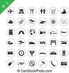icon set #4 - Collection of different icons for using in web...