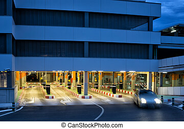 Parking Garage - Night Time Parking at the Airport Parking...